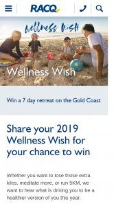 RACQ Membership Req – Share your Wellness Wish & – Win a Seven Day Retreat on The Gold Coast at Eden Health Retreat for Two People (valued at $7500). (prize valued at $7,500)
