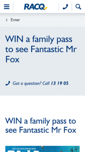 RACQ – Win a Family Pass to See Roald Dahl's Fantastic Mr Fox at Qpac (prize valued at $312)