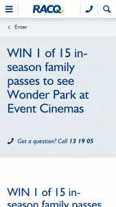 RACQ – Win 1 of 15 In Season Family Passes to See Wonder Park at Event Cinemas (prize valued at $70)