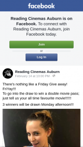 Reading Cinemas Auburn – Win a Double Movie Pass