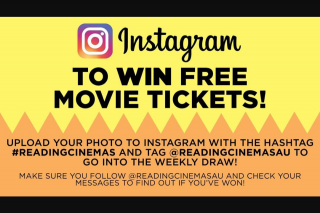 Reading Cinemas Australia – Free Movie Tickets