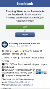 Running Warehouse – Will Be Chosen at Random Using Woobox and Notified By The Relevant Social Media Channel on 4.03.19.