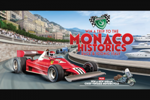 Shannons – Win a Trip for Two Adults to The 2020 Monaco Historics Race (prize valued at $32,995)