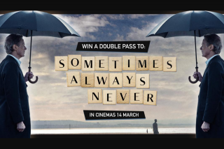 Smooth FM – Win a Double Pass to Sometimes Always Never