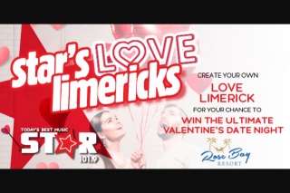 Star1019 Mackay – Win The Ultimate Valentine's Day Date Night (prize valued at $500)