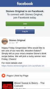 Stones Original – Win One of Our New 60l Wooden Eskies (prize valued at $200)