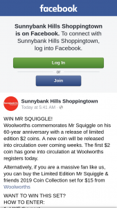 Sunnybank Hills Shoppingtown – Win Mr Squiggle (prize valued at $15)