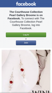 The Courthouse Collection Pearl Gallery Broome – These Stunning Pearl and Garnet Earrings this Valentines Day