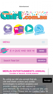 Total Girl – Win an Annual Pass for Four (two Adults (prize valued at $350)