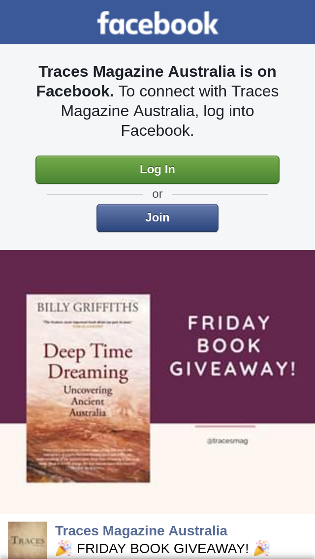 Traces win a copy of deep time dreaming book - Div style padding ...