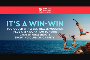 Triple M-Play for Purpose – Win a $5000 Flight Centre Voucher (prize valued at $5,000)