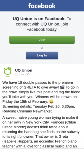 UQ Union – Win a Gold Lounge Experience for 2