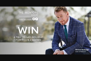 Van Huesen – Nearest Capital City to Melbourne Australia Departing on 19/02/19 and Returning on 22/02/19 (only Provided If Does Not Reside In Victoria) (prize valued at $350)