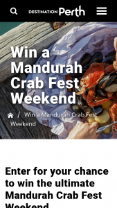 """Win an Overnight Stay Seashells Mandurah and 2 Tickets to """" a Taste of Crabfest"""" Friday March 2019 (prize valued at $460)"""