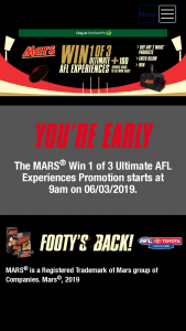 Woolworths – Win an AFL Experience (prize valued at $18,810)