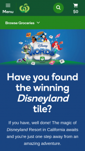 Woolworths – Win this Once In a Lifetime Adventure to The Disneyland Resort In California (prize valued at $320,784)