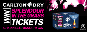 Bottlemart – LMG Carlton Dry – Win 1 of 50 prizes of a 3-day double pass to 2019 Splendour in the Grass including 1 camping pass valued at $927 each