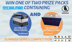 Caravan Camping Classifieds – Win 1 of 2 prize packs containing a Kookabox & a My Coolman Fridge