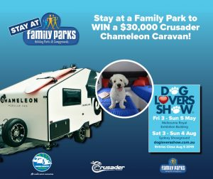 Family Parks – Win a Crusader Caravans Chameleon Van valued at $30,000