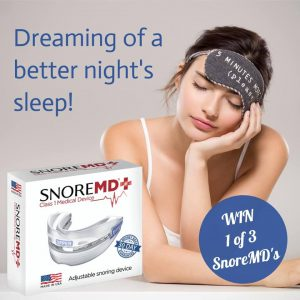 Snore MD – Win 1 of 3 SnoreMD's valued at $169.95 each