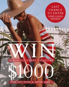 Suboo Style – Win a $1,000 voucher