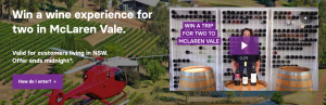 The Wine Collective – Win a wine experience for 2 in McLaren Vale valued at $1,500 (flights to 2 to Adelaide, transfer to McLaren Vale, accommodation, dinner and winery tour included)