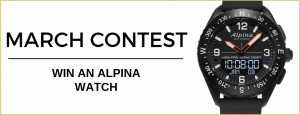 WorldTempus – Win an Alpina Alpinerx Connected watch valued at CHF 895