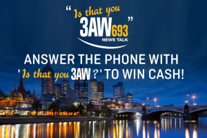 3AW – Win $1000 Cash (prize valued at $64,000)