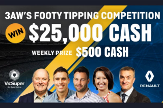 3AW – Win $25000 Thanks to Vicsuper (prize valued at $25,000)