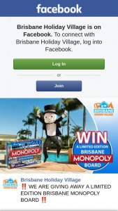 Brisbane Holiday Village – Win Your Own Brisbane Edition Monopoly Board Game