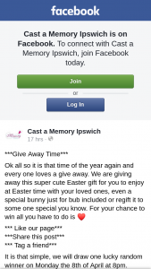 Cast a Memory Ipswich – Win an Easter Hamper Must Collect