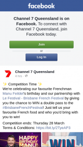 Channel 7 Qld – Win a Double Pass to The #brisbanefrenchfestival