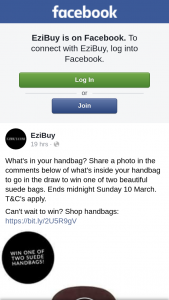 Ezibuy – Win One of Two Beautiful Suede Bags