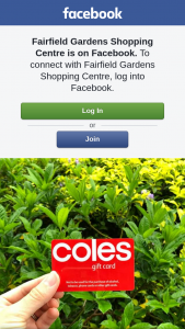 Fairfield Gardens SC – Win a $100 Coles Card Must Collect