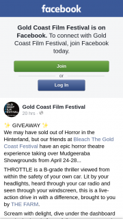 Gold Coast Film Festival – on Thursday