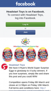 Headstart toys – Win One of Four Ryan's World Super Surprise Eggs