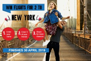 Select World Travel & iFly – Win a trip for 2 to New York valued at AUD$4,000