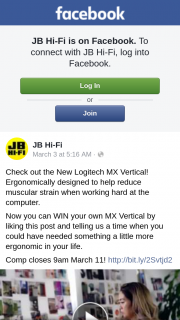 JB HiFi – Win Your Own Mx Vertical By Liking this Post and Telling Us a Time When You Could Have Needed Something a Little More Ergonomic In Your Life