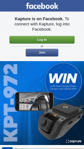 Kapture – Win Their Very Own Dash Camera (prize valued at $449)