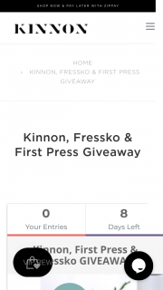 Kinnon – Win a Beautiful Prize Pack From Fressko (prize valued at $660)