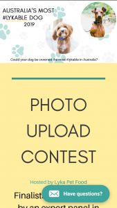 Lyka – Win a Year Supply of Lyka's Pet Food (prize valued at $1,500)