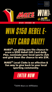 MARS Community Cup – Purchase 2 participating products & – Win Prize Is Awarded (prize valued at $5,000)