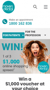 Maven Dental – May Choose From One of The Following Voucher Options (prize valued at $3,000)