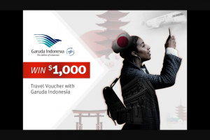 Nova 93.7 – Win $1000 Travel Voucher With Garuda Indonesia (prize valued at $2,000)