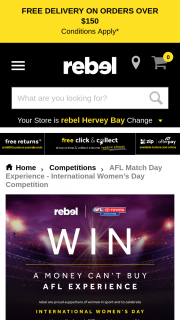 Rebel Sport – Win Them an Exclusive Match Day Experience (prize valued at $700)