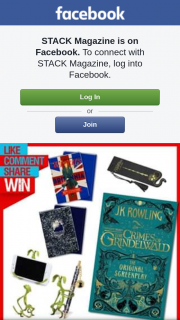 Stack Magazine – Win 12 Prizes Each Including a Screenplay Book Bookmark Notebook and a Bowtruckle
