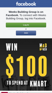 Weeks Building Group – Vouchers Every Week (prize valued at $100)