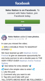 Win a Double Pass to The Very First Ever Madman Anime Festival Sydney