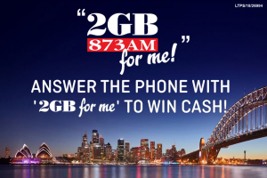 Win Cash With 2gb for Me (prize valued at $64,000)