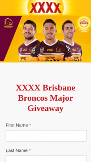 XXXX Gold – Win One Prize Each (prize valued at $3,116)